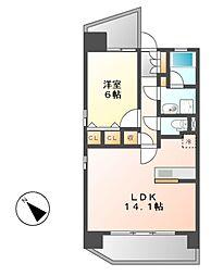 KAMIMAEZU RISE(カミマエズライズ)[7階]の間取り