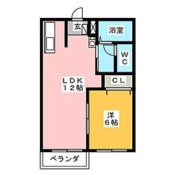 カトレアハイツ[2階]の間取り