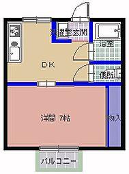 クラシカル姫子  2号棟[D号室]の間取り