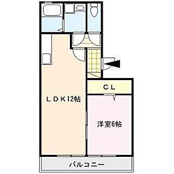 ドミールパークII[2階]の間取り