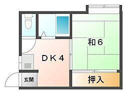 オリエントハイツ[1階]の間取り