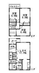 [一戸建] 大阪府茨木市上穂積3丁目 の賃貸【/】の間取り