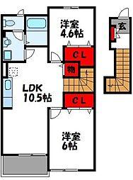 ボナール杁[2階]の間取り