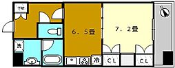 KAISEI堺[5階]の間取り