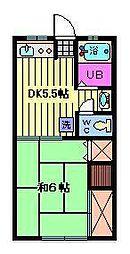 長野ハイツ第1[208号室]の間取り