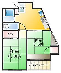 東京都江戸川区江戸川6丁目の賃貸マンションの間取り