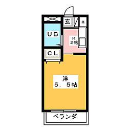 ベルトピア松下[3階]の間取り