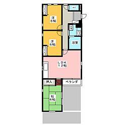 コンフォートYAMATO[1階]の間取り