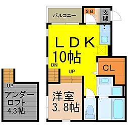 ディアコート深川 (ディアコートフカガワ)[1階]の間取り