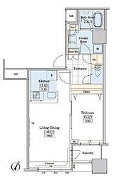 JR山手線 大塚駅 徒歩9分の賃貸マンション 10階1LDKの間取り