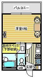 WIN[206号室]の間取り