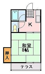 蘇我野ハウス[402号室]の間取り