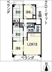 インテリジェント高間台II[1階]の間取り