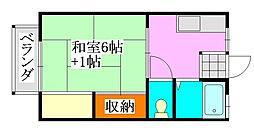 シティハウス[203号室]の間取り