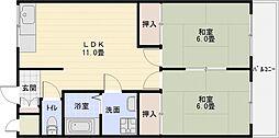 カスガハイツ[3階]の間取り
