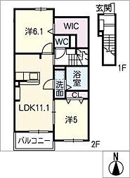 ステラ A棟[2階]の間取り