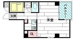 江坂OMパレス[4階]の間取り