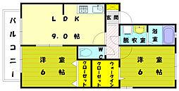 セジュールミキ[1階]の間取り