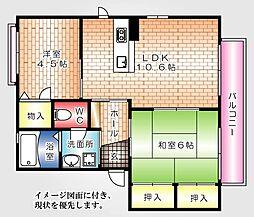 フローレンスNEW YAMATO--[202号室]の間取り