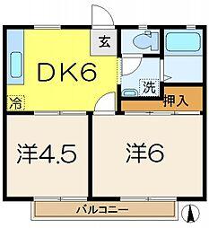 セントバレーA棟[2階]の間取り