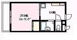 コアクレスト上草柳[2階]の間取り