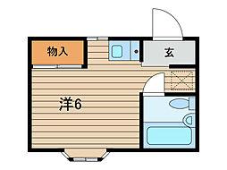 グレース武蔵浦和[2階]の間取り