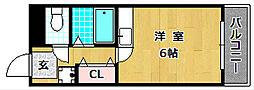 ツインビルB棟[4階]の間取り