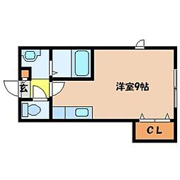 北海道札幌市北区あいの里一条3丁目の賃貸アパートの間取り