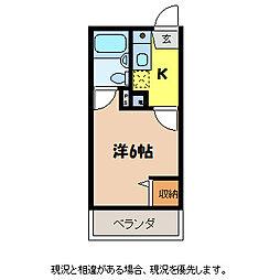 長野県駒ヶ根市赤穂の賃貸マンションの間取り
