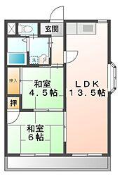 コーポ衣川[3階]の間取り