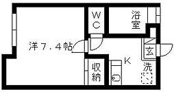 ベルード60[2階]の間取り