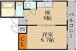 メゾンボヌール[4階]の間取り