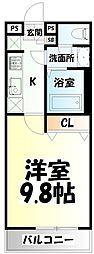 JR仙石線 陸前原ノ町駅 徒歩5分の賃貸マンション 1階1Kの間取り