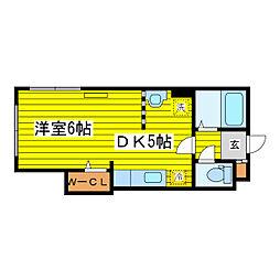 北海道札幌市東区北十四条東16丁目の賃貸マンションの間取り