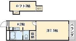 レオパレスマザーグース[2階]の間取り