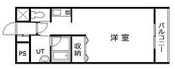 サテラ永山[610号室]の間取り