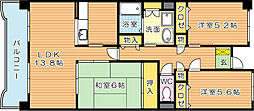ハイマート黒崎(分譲賃貸)[3階]の間取り