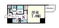 JR大阪環状線 大阪駅 徒歩9分の賃貸マンション 15階1Kの間取り
