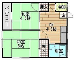 椿荘[2階]の間取り