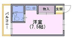 桜南ハイツ[204号室]の間取り