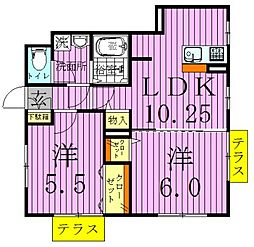 カーサニコル3[1階]の間取り