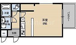 ユニストレジデンス鶴見[1階]の間取り