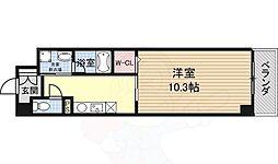 大阪モノレール彩都線 阪大病院前駅 徒歩5分の賃貸マンション 3階1Kの間取り