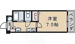 M'PLAZA津田駅前十二番館 4階1Kの間取り