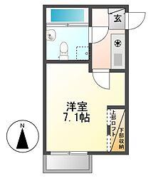 クラレーザ[4階]の間取り