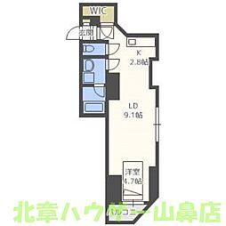 KWレジデンス札幌中央[8階]の間取り