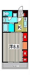 リブリ・SOPHIA喜沢2[3階]の間取り