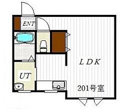 4life 2階1Kの間取り