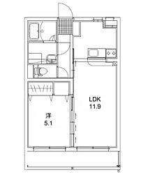 エクレール 2[208号室]の間取り