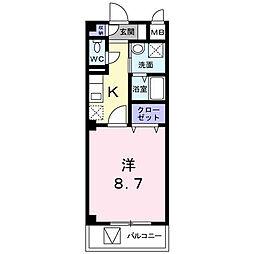 埼玉県上尾市本町1丁目の賃貸アパートの間取り